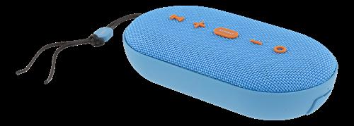 STREETZ Waterproof Bluetooth Speaker, Fabric Design, 2x5W, TWS, IPX5, Bluetooth 4.2, Blue / CM755