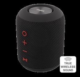 STREETZ Waterproof Bluetooth Speaker, Fabric Design, TWS, 2x5W, IPX5, Bluetooth 4.2, Black / CM756