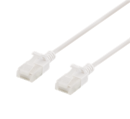 DELTACO U / UTP Cat6a patch cable, slim, 3.5mm, 0.5m, 500MHz, LSZH, white / UUTP-1018