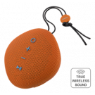 STREETZ Waterproof Bluetooth Speaker, Fabric Design, IPX5, TWS, Bluetooth 4.2, 1x6W, Orange / CM751