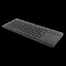 DELTACO bezvadu mini klaviatūra ar skārienpaliktni, izkārtojums angļu valodā, 2.4G, bl