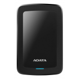 ADATA 1TB External Hard Drive, 10.3mm, USB 3.1, Quick Start, Black AHV300-1TU31-CBK / ADATA-428