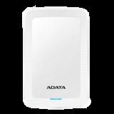 ADATA 1TB External Hard Drive, 10.3mm, USB 3.1, Quick Start, White AHV300-1TU31-CWH / ADATA-429
