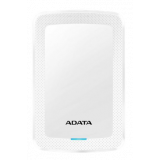 ADATA 4TB External Hard Drive, 19mm, USB 3.1, Quick Start, White AHV300-4TU31-CWH / ADATA-437