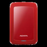 ADATA 4TB External Hard Drive, 19mm, USB 3.1, Quick Start, Red AHV300-4TU31-CRD  / ADATA-439
