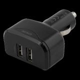 Auto lādētājs DELTACO, 4.8A, 2xUSB, melns/ USB-CAR96