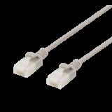Patch cable DELTACO U/UTP, Cat6a, 2m, 500MHz, LSZH, gray / UUTP-1040