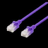 Cable DELTACO Cat6a, 3.5mm, 5m, 500MHz, purple / UUTP-1065