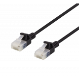 DELTACO U / UTP Cat6a patch cable, slim, 3.5mm, 5m, 500MHz, LSZH, black / UUTP-1067