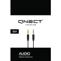 Cable QNECT iš 3.5mm į 3.5mm, black / 101355