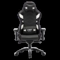 Gaming chair L33T GAMING Elite V4 (PU) Black - White decor / 160369