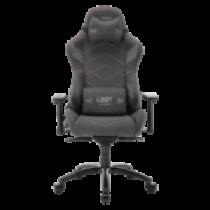 L33T Gaming - Elite V4 spēļu krēsls (SOFT CANVAS) Tumši pelēks dekors