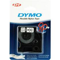 DYMO D1 marķējuma lente flex nylon 19mm, melna uz balta, 3,5 m roll