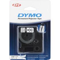 DYMO D1 marķieru lente Polimērs 19mm, melns uz balta, 5,5 m veltnis