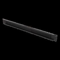 """DELTACO 19 """"kabeļu vadība ar suku, metāla / neilona, 1U, melnu"""