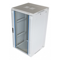"System Z, 19 ""wall cabinet, 22U, 600x600, front glass door and rear swing opening, 60kg load TOTEN white / 19-6622V"