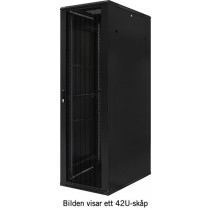 "TOTEN, 19 ""floor cabinet, 18U, 600x1000, perforated front and rear doors, max 800 kg. / 19-AD6018PP"
