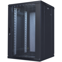 """TOTEN System A, 19 """"floor cabinet, 18U, 600x600, perforated front and rear doors, max 800 kg.  / 19-AD6618PP"""