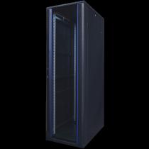 """TOTEN System A, 19 """"floor cabinet, 42U, 600x1200, glass front door, perforated rear door, max 500 kg. / 19-AS6242GP"""