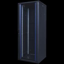 """TOTEN System A, 19 """"floor cabinet, 32U, 600x600, glass front door, perforated rear door, max 500 kg / 19-AS6632GP"""