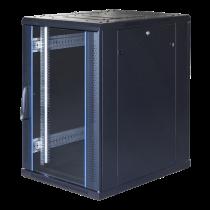 """TOTEN System G, 19 """"skapis, 18U, 600x1000, stikla priekšējās durvis, perforāts"""