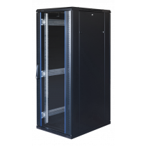 """TOTEN System G, 19 """"skapis, 32U, 600x1000, stikla priekšējās durvis, perforāts"""