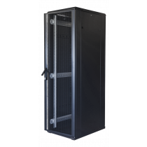 "TOTEN System G, 19 ""floor cabinet, 42U, 600x1200, perforated door front, perforated door rear, 800kg load, black 19-G6242PP"
