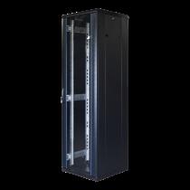 """TOTEN System G, 19 """"skapis, 42U, 800x800, stikla priekšējās durvis, metāla korpuss"""