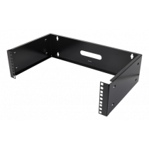 """DELTACO 19 """"sienas stiprinājums, 3U, maks. 25 kg, tērauda konstrukcija, melna"""