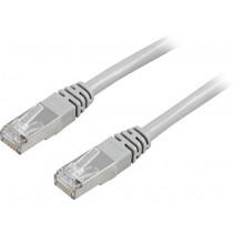 Cable DELTACO F / UTP, Cat5e, 2m, 100MHz, gray / 2-STP