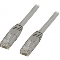 DELTACO U / UTP Cat5e patch cable 25m, 100MHz, Delta-certified, gra / 25-TP