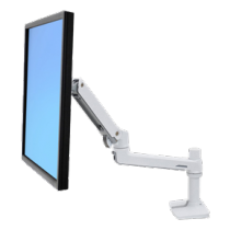 Ergotron LX monitor arm for LCD / TFT monitor, white, table / 45-490-216