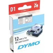 Tape DYMO D1 12mm x 7m, vinyl, white on transparent / S0720600 45020