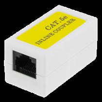 DELTACO savienotājs Cat5e, UTP (bez ekranējuma), sieviete-sieviete, balta