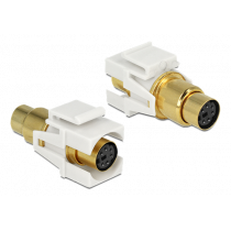 eLOCK Keystone Module Mini-DIN 6-pin female - jpma, gold-plated, white / 86339