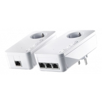 Devolo dLAN 1200 triple + starter kit, 3x Ethernet RJ45, up to 1200 Mbps, white / 9913