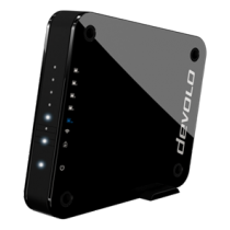Bridge Devolo GigaGate Satellite, 2Gbps LAN, 2.4, 5GHz, 802.11ac, 4xLAN ports, 1xGigabit RJ45, AES, black/ 9980