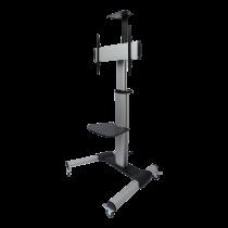 DELTACO biroja displeja grozs, regulējams ar kloķa rokturi, Alu, 50kg