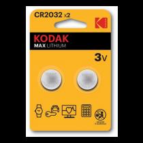Kodak Kodak Max litija CR2032 akumulators (2 kompl.)