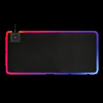 DELTACO GAMING RGB peles paliktnis, ātra bezvadu uzlāde, 900x400x4mm