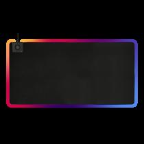 DELTACO GAMING DMP330 RGB peles paliktnis, 10 W bezvadu uzlāde, 1180x580x4mm