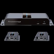 1X2 HDMI paplašinātāja sadalītājs pa CAT6 / 6a / 7 40m ar infrasarkano starojumu