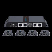 1X4 HDMI paplašinātāja sadalītājs pa CAT6 / 6a / 7 40m ar infrasarkano starojumu