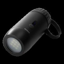 DELTACO barošanas banka 15 000 mAh, IP67, USB-A un C, lukturītis, SOS LED