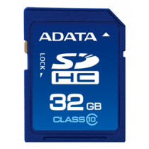 Memory card A-DATA SDHC, 32GB, UHS speed class 1, speed class 10, 10/50 Mb/s, blue ASDH32GUICL10-R / ADATA-179