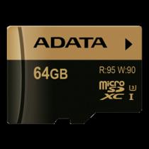ADATA Premier Pro SDXC UHS-I Card, U3, 64GB, Class 10 AUSDX64GXUI3-R / ADATA-197