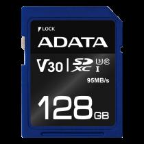 Memory card A-DATA Premier Pro SDXC, UHS-I U3 Class 10, 128GB, blue / ADATA-339