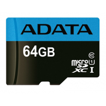 Memory card A-DATA MicroSDXC, 64GB, UHS-I, Class 10, A1, Blue / ADATA-390