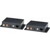 Signāla pastiprinātājs analogo audio pār Cat5e, 600m, 3,5mm, RCA, lpp