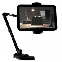 "Smartphone and Tablet holder, 4""-12,2"", 360 degree rotation, suction cup DELTACOIMP black / ARM-250"